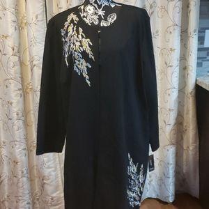 Alfani Women's Long Sleeves Embroidered Jacket Top